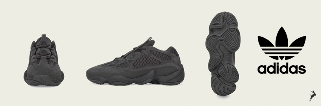adidas + KANYE WEST anuncian la llegada de YEEZY 500 Utility Black
