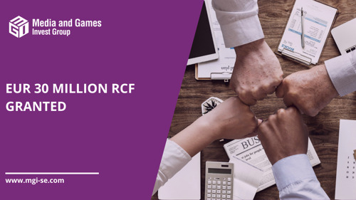 Media and Games Invest Group signs a EUR 30 million unsecured RCF with UniCredit Bank for an interest rate of 3.875% p.a.