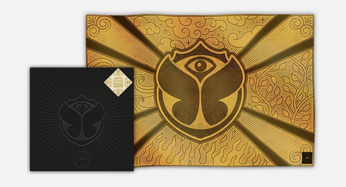 Limited Edition Gold 15 Years Tomorrowland Flag