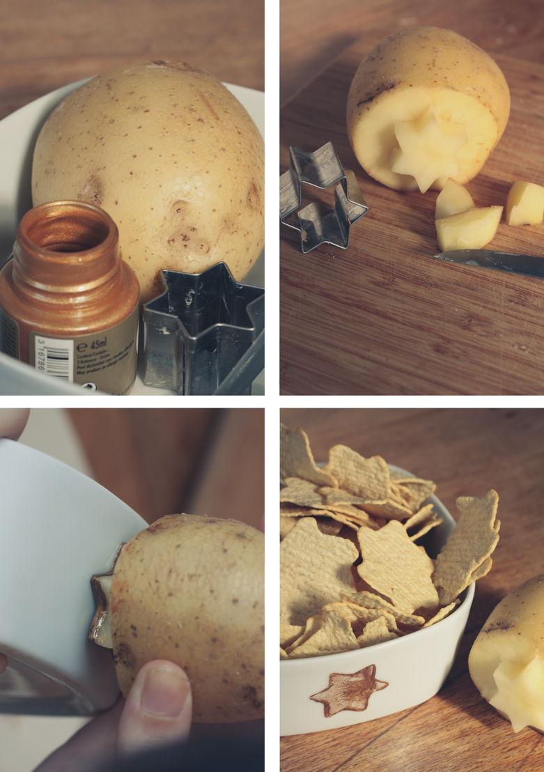 Lay's Oven Stars DIY Starry Potato Stamp
