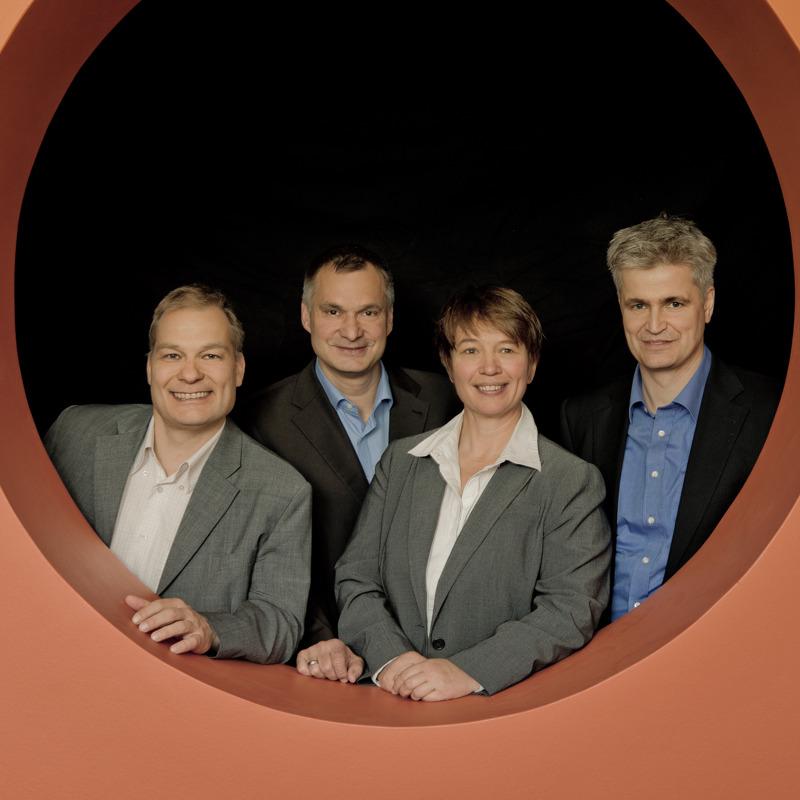 © ThinPrint/Management Board ThinPrint GmbH: Thorsten Hesse (CPO), Frank Hoffmann (CFO), Charlotte Künzell (CEO), Bernd Trappe (CTO)