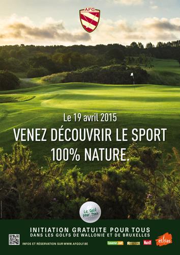 Preview: Initiations gratuites aux plaisirs du golf : l'AFG  propose aux Liégeois d'essayer un sport 100% nature