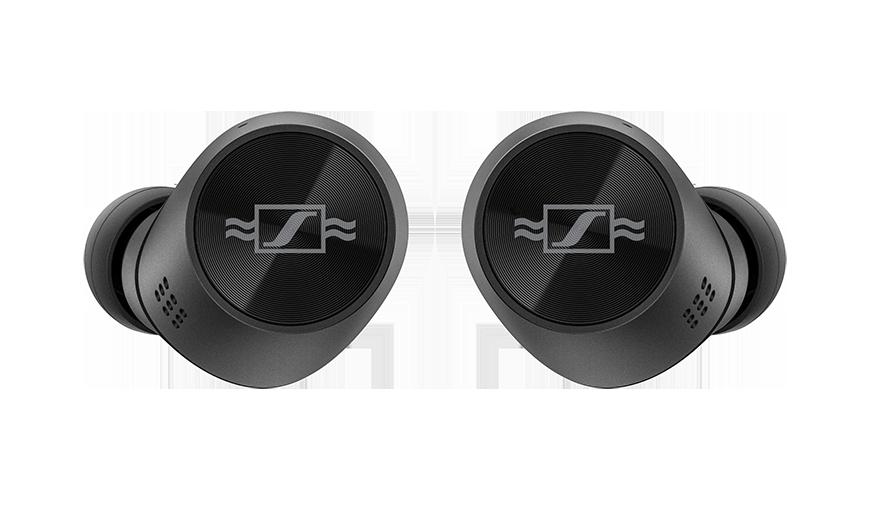 Die MOMENTUM True Wireless 2 Anniversary Edition ist eine Hommage an die Unternehmensgeschichte und präsentiert sich mit dem ursprünglichen Sennheiser-Logo.