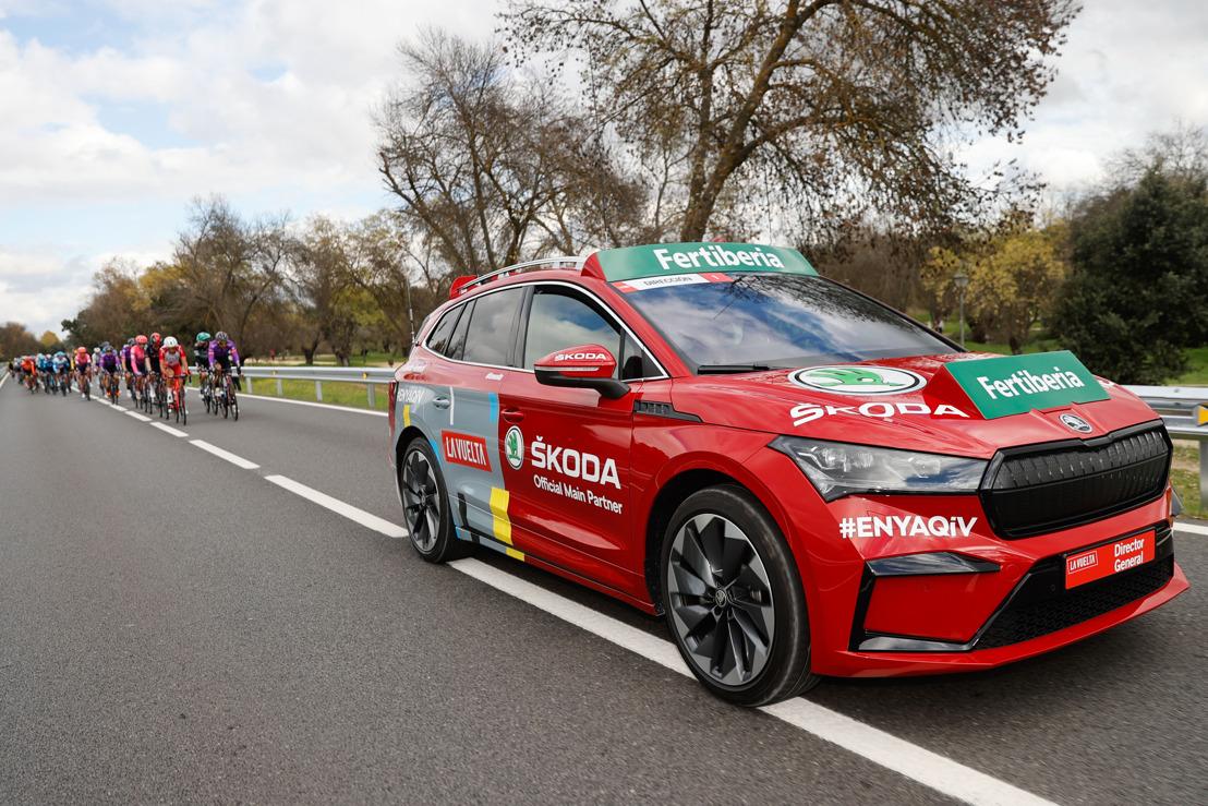 ŠKODA ENYAQ iV led three stages of Spanish cycling tour La Vuelta