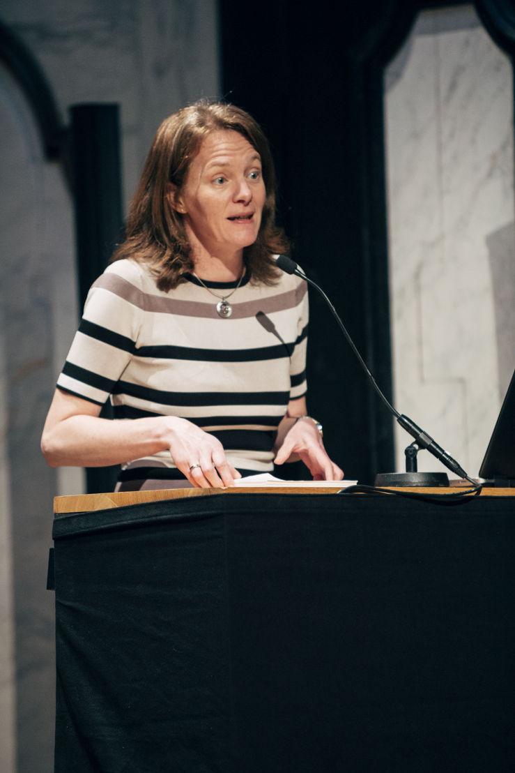 Voorstelling evenementen kunstensector 'Antwerp Baroque 2018. Rubens Inspires'. Caroline Bastiaens, schepen voor cultuur Antwerpen.  foto Joris Casaer