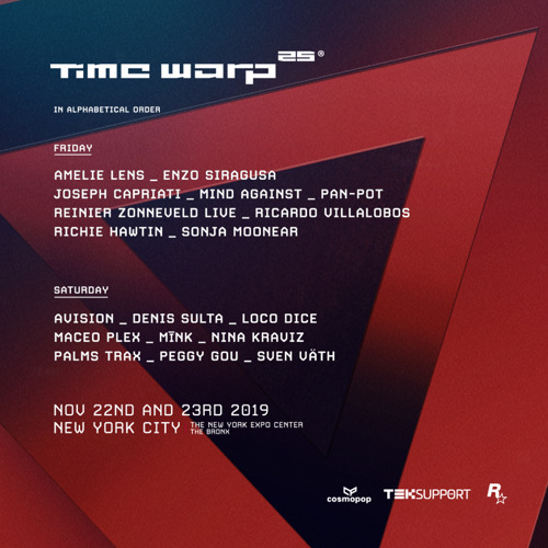Time Warp Announces Lineup for 25th Anniversary Celebration in New York City