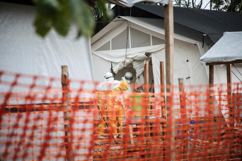 Centre de traitement ebola de Mangina © MSF