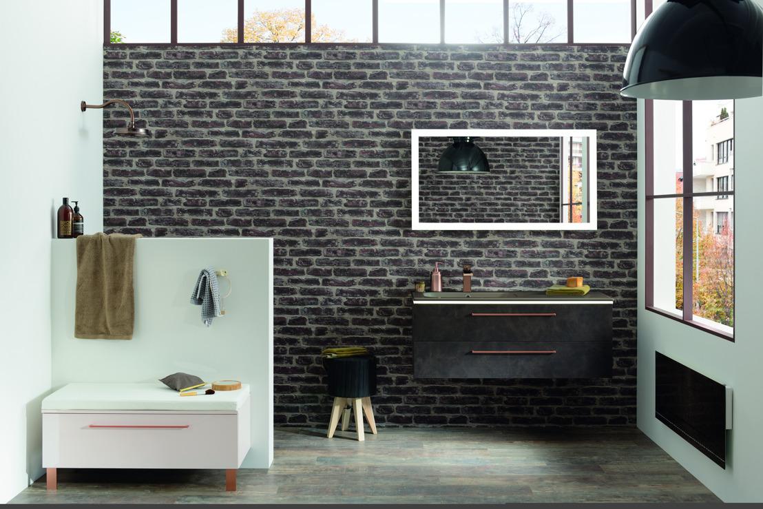 Tendance salle de bains : le bois, l'acier, le béton et même… le cuir !