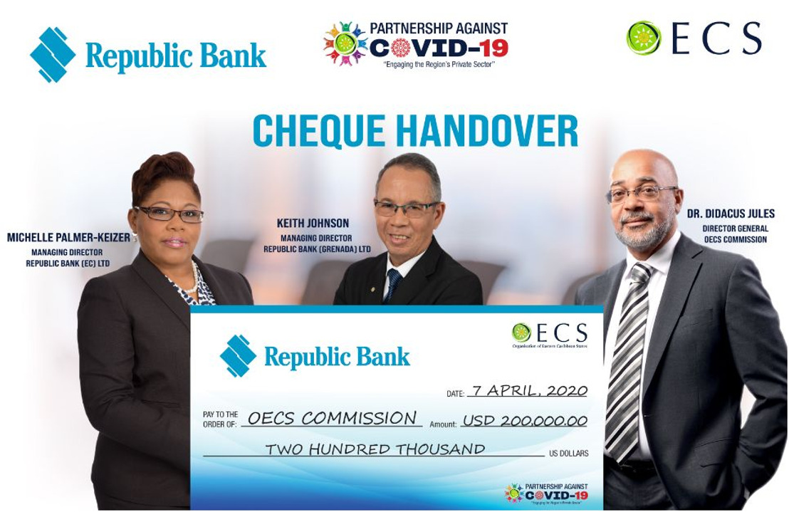 Republic Bank (EC) Ltd joins the Battle Against COVID-19 in the OECS