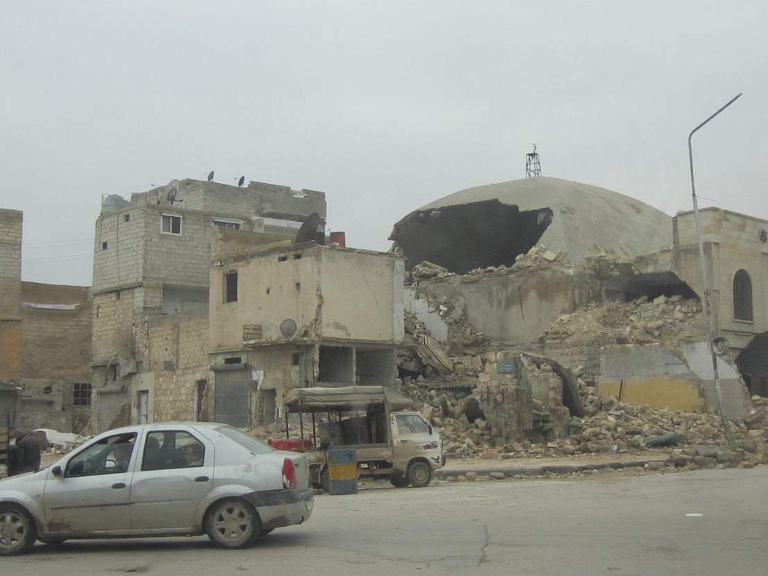 Aleppo (eastern part of the city held by the armed opposition), December 2012, after several months of intense fighting.