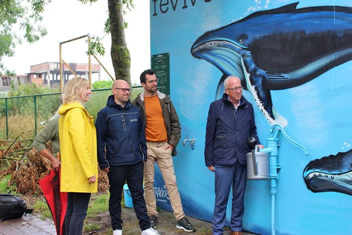 Inwoners Oudenaarde kunnen deze zomer gratis gerecycleerd grondwater halen aan Saffrou-werf