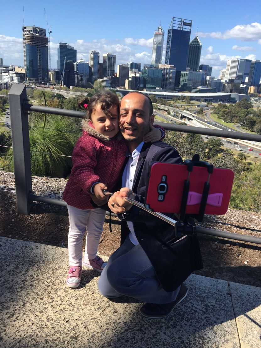 Khaled Naanaa and daughter Ayaa.
