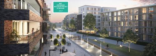 """Preview: ERASMUS GARDENS récompensé : le projet reçoit le prix du """"Best sustainable real estate project of Belgium"""""""