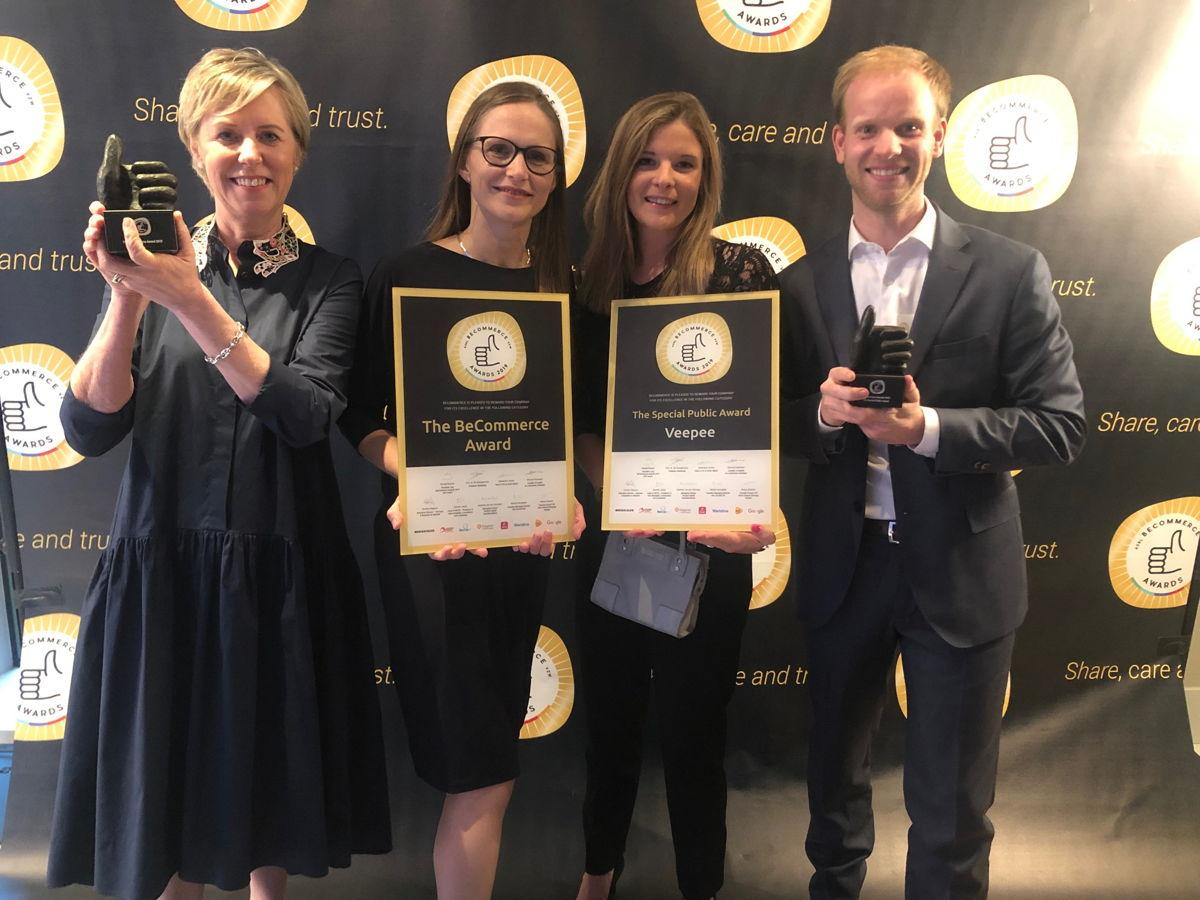Veepee wint grote 'BeCommerce Award 2019' en