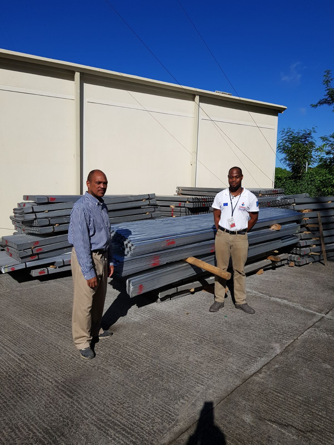 Dominica receives US$200,000 worth of building materials from the Tank-Weld Group