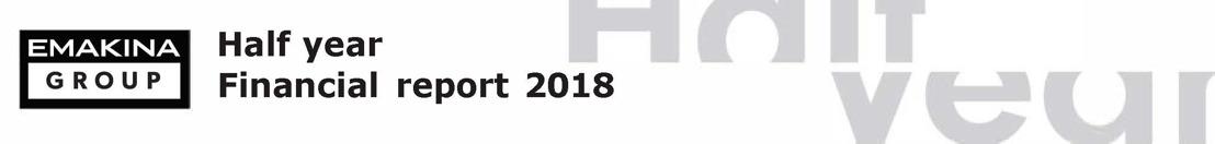 Emakina Group: Sterke halfjaarresultaten 2018 - aanhoudende groei in bedrijfsopbrengsten en rentabiliteit