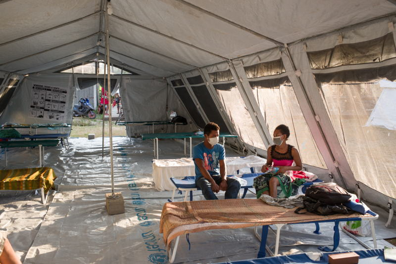 Patients affected by the plague are quarantined and housed in tents (provided by UNICEF). Patients are forbidden to go out at the risk of infecting others in their environment. Photographer: RIJASOLO/Riva Press
