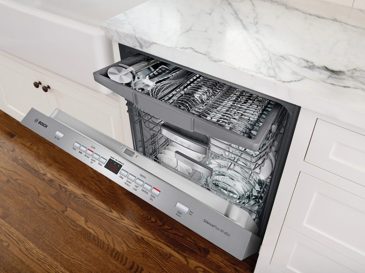 Bosch 500 series dishwasher. IPhoto courtesy of Bosch at Ferguson Bath, Kitchen & Lighting Gallery.
