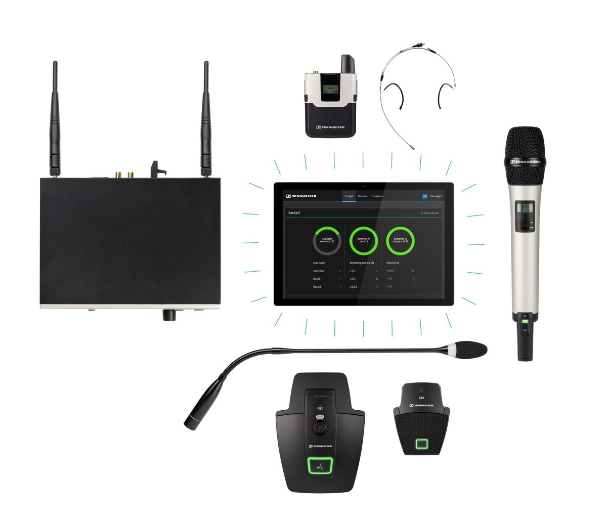 A reliable wireless microphone system for students, professors and IT staff: SpeechLine Digital Wireless offers flexible solutions for work and lecture activities