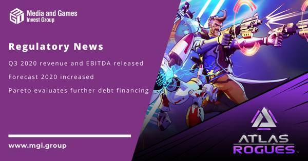 Preview: Media and Games Invest announces preliminary financial figures for the third quarter 2020, increases its revenue and EBITDA forecast for 2020 and evaluates debt financing