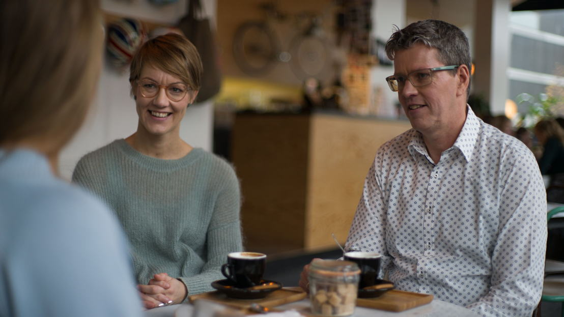 Loopbaancoaches Hanne Exelmans en Jan Osselaer