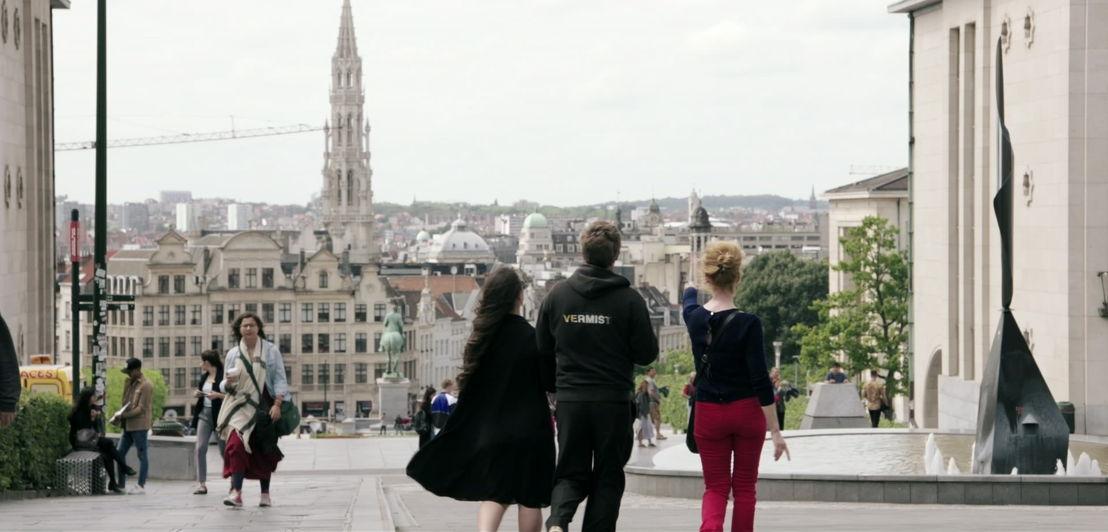 Marleen Merckx, Min Hee Bervoets en Jan Verheyen<br/>Weg zijn wij (c) VRT