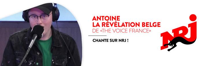 """Antoine, la révélation belge de """"The Voice France"""", chante sur NRJ!"""