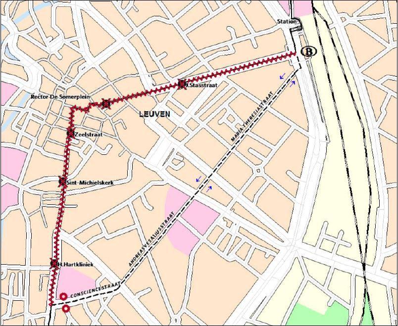 Omleiding lijnen 2 en 539