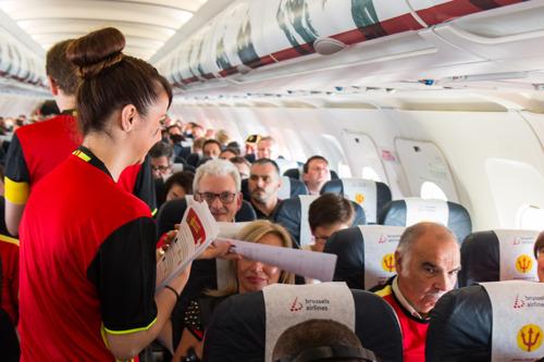 Brussels Airlines' fanvluchten brengen 750 supporters naar Lyon