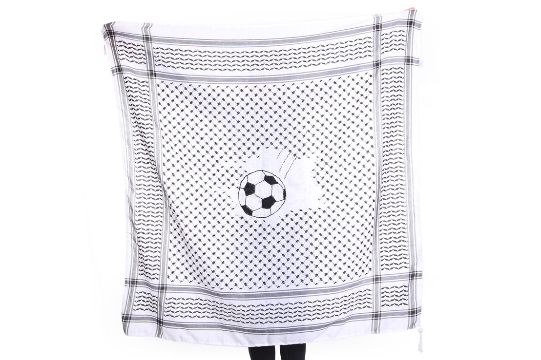 Soccer Keffiyeh, Hannes Bernard voor Disarming Design from<br/>Palestine (Foto: Celine Callens) - Henry van de Velde Communication Award 16