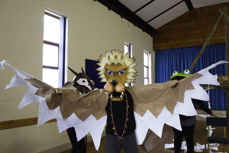 Rehearsals for When Lion Had Wings - credit Maryatta Wegerif photography