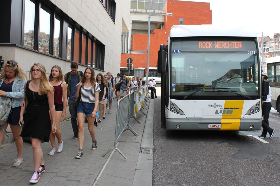 De Lijn zet elke dag 60 chauffeurs in voor pendelbussen Rock Werchter