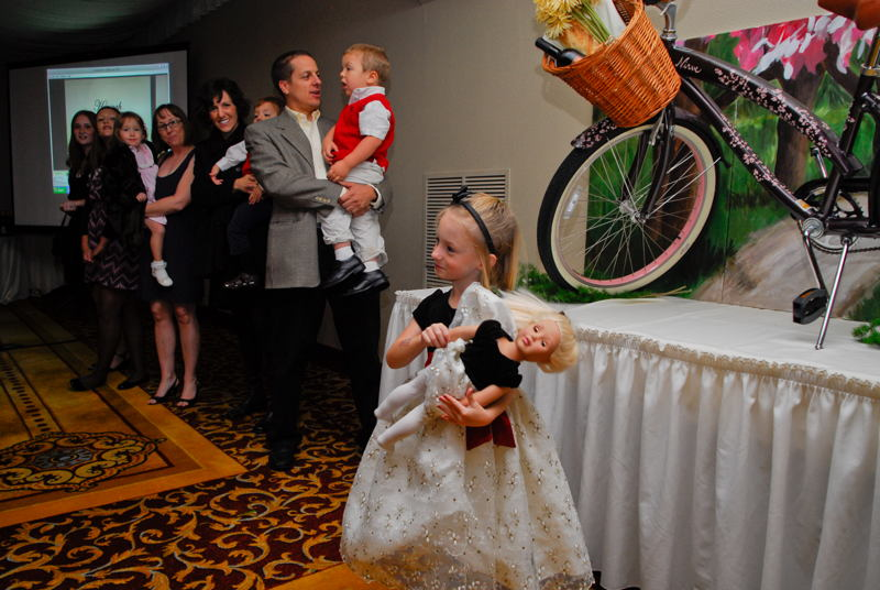 A NICU gradute, Beth Harrison greets guests at the Celebration of Miracles.
