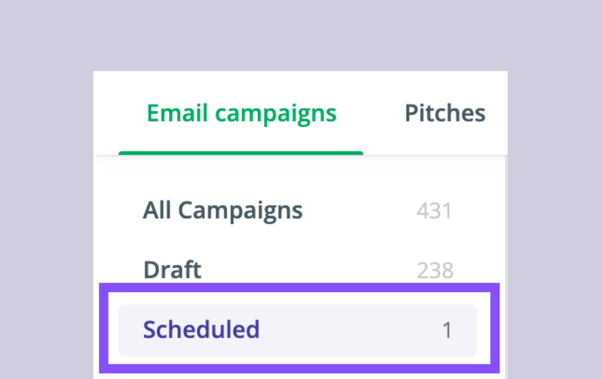 Sending or scheduling your Campaigns