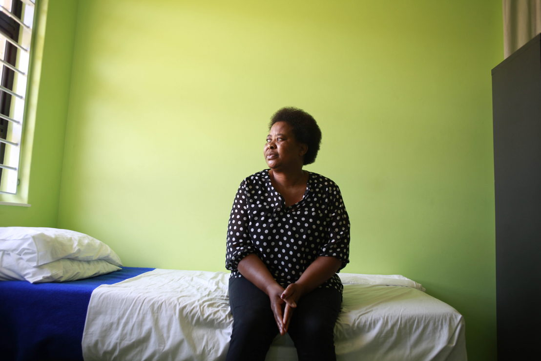 A victim of sexual violence, Poppy Makgobatlou at the Kgomotso Care Centre in Bapong. Photographer: Siyathuthuka Media