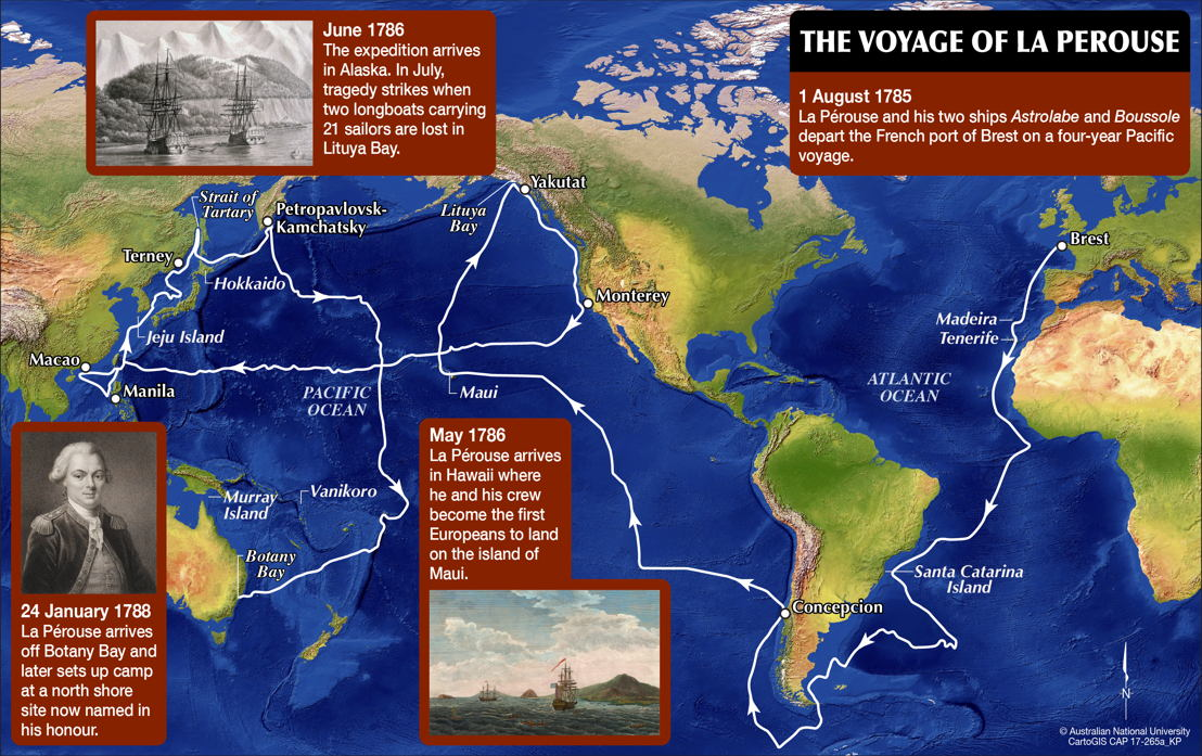 The voyage of Comte de La Pérouse. Image: ANU.