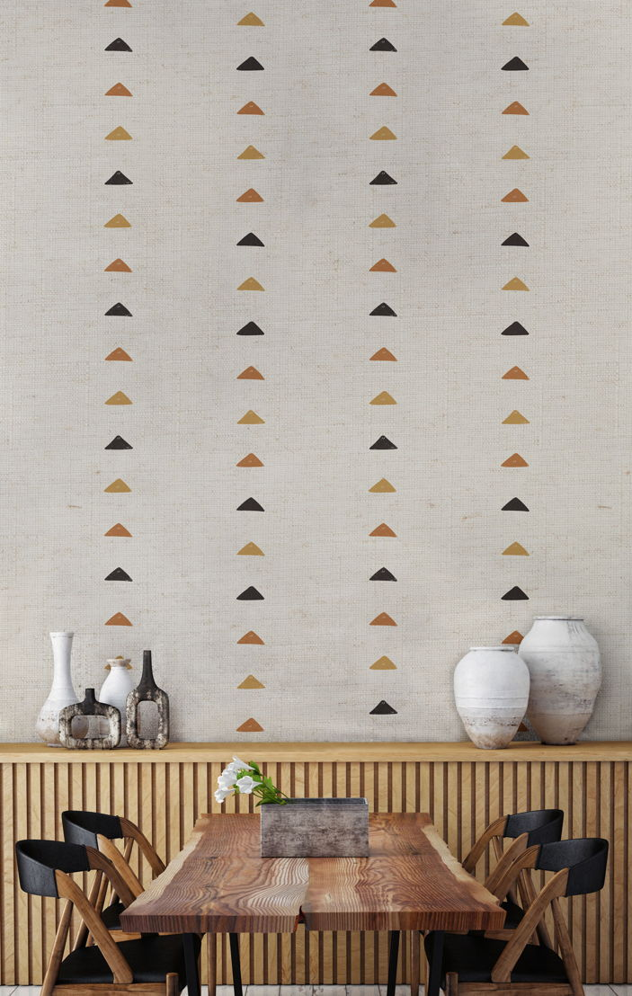 Tribal Triangles Wallpaper Mural