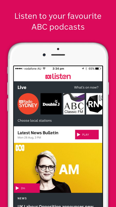 Listen to your favourite ABC podcasts