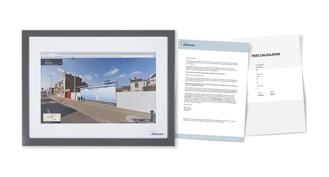 JCDecaux envoie des factures pour l'affichage sur Street View