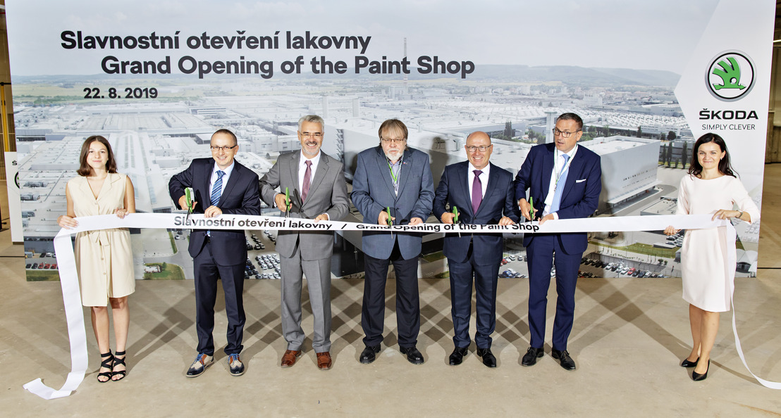 ŠKODA AUTO launches operation of new paint shop at Mladá Boleslav plant