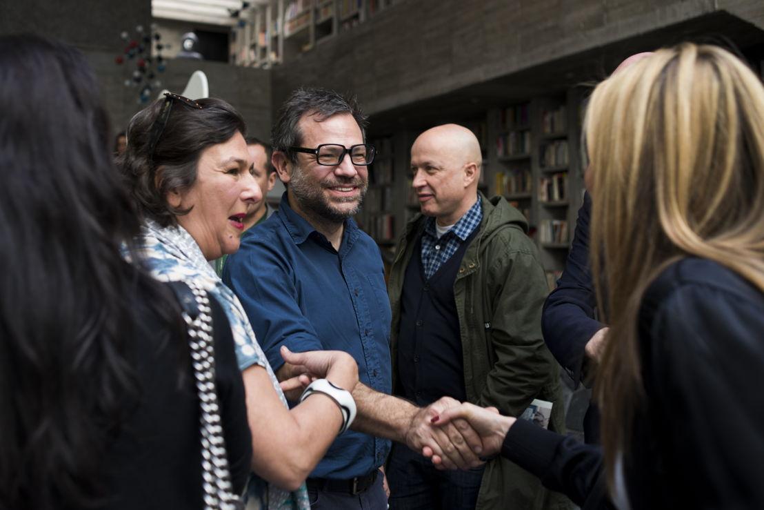 Isabella Mora, Pedro Reyes y Sam Keller