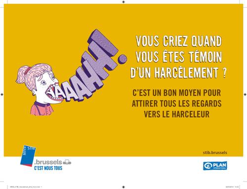 La STIB et Plan International lancent une campagne contre le harcèlement sexiste