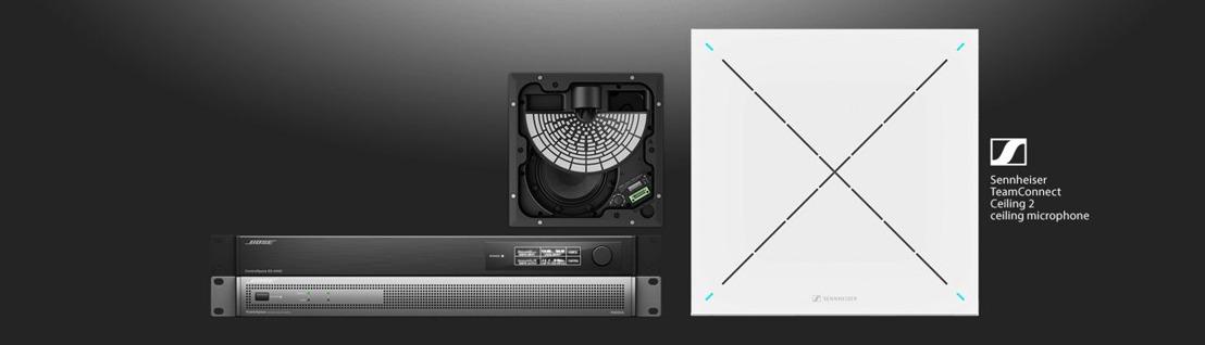 Bose Profesional ofrece la Bose ES1 Ceiling Audio Solution con la certificación de Microsoft Teams