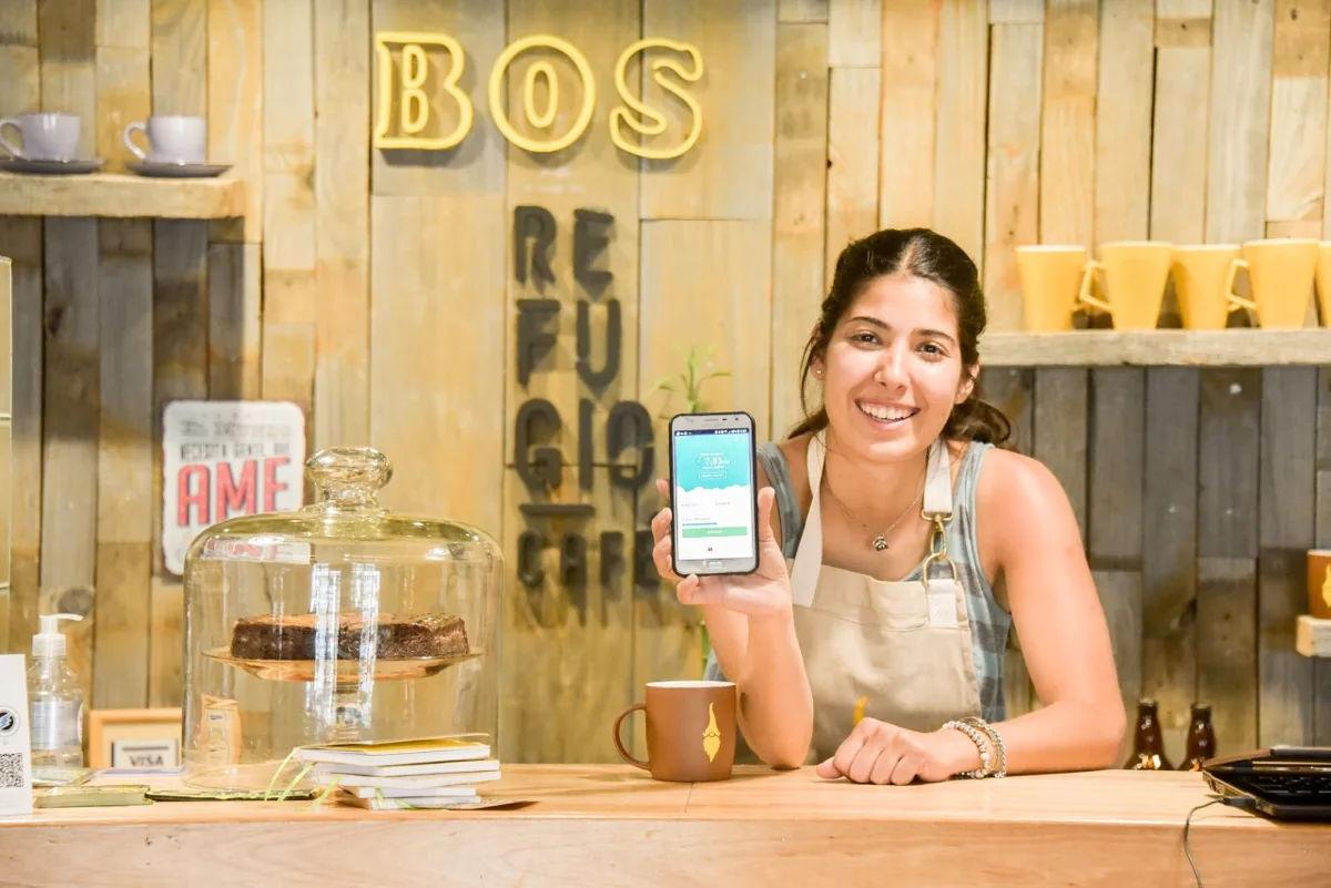 Cafe Refugio in Bariloche, Argentina, accepts ETN.