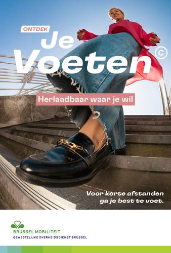 Brussel Mobiliteit en mortierbrigade - VO Communications lanceren 'Je Voeten©'.