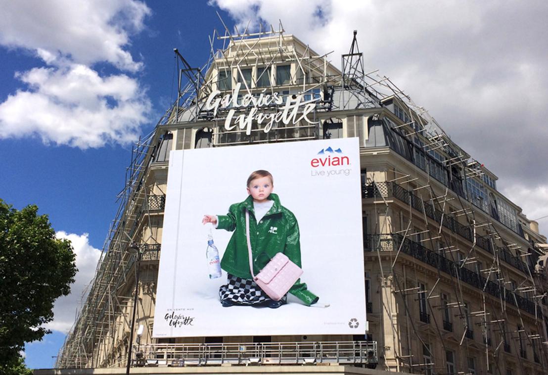 La nouvelle campagne evian® « oversize » invite à découvrir le monde à travers les yeux d'un bébé