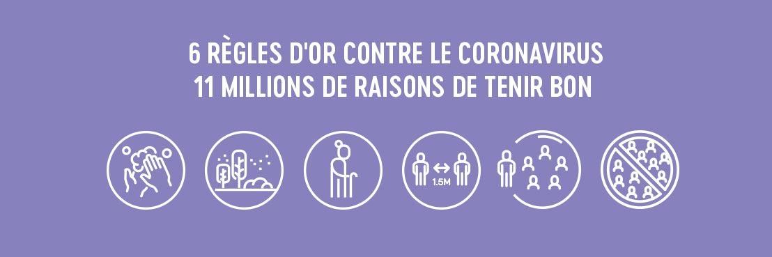 """La campagne des autorités fédérales """"11millionsderaisons.be"""" montre ce qui pousse les Belges à tenir bon et à suivre les six règles d'or contre le coronavirus"""