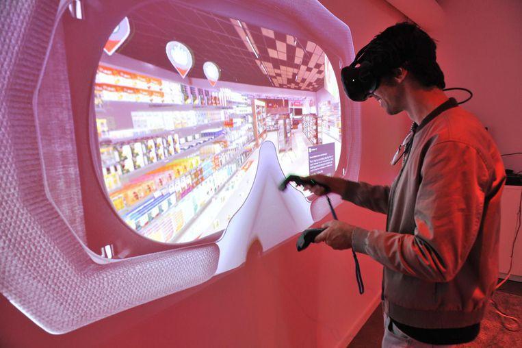 Test de VR-supermarkt