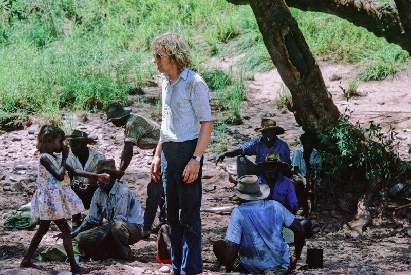 Filmmaker John Goldschmidt  during the making of the film