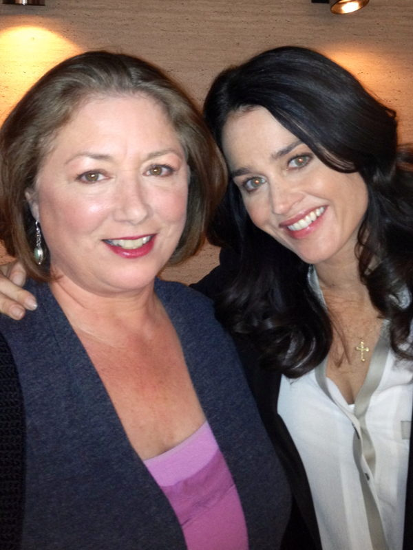 """Egan with Robin Tunney on the set of """"The Mentalist."""""""